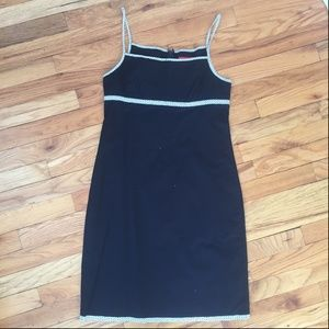 J. Crew Black Strappy Cotton Dress